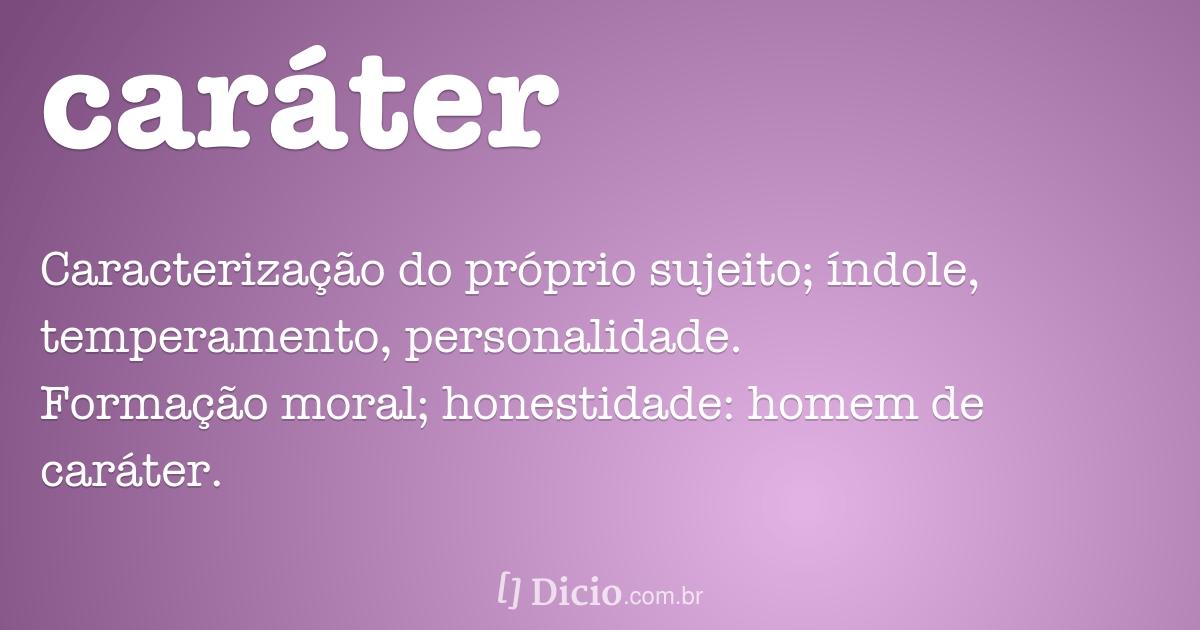 carater